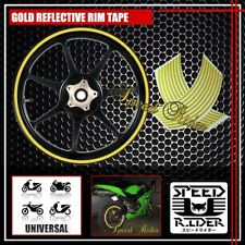 GOLD REFLECTIVE RIM TAPE WHEEL STRIPE TRIM CAR BIKE BICYCLE DECAL 16 17 18 19