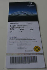 old ticket CL BVB Borussia Dortmund Legia Warszawa 2016 Germany Poland