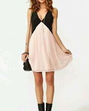 Chiffon V-Neck Solid Dresses for Women
