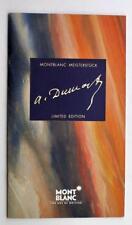 1996 MONTBLANC WRITERS ALEXANDER DUMAS SON LIMITED EDITION FOUNTAIN PEN BROCHURE