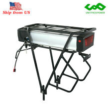 48V 20Ah Rear Rack Lithium ion Ebike Battery for 1000W Motor with LED Taillight
