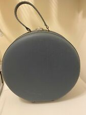 """Vintage American Tourister Round Blue Train Case Luggage Suitcase 17"""""""