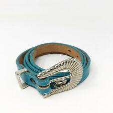 Nocona Girls Cowgirl Turquoise Leather Belt