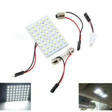 White Car Interior Light Panel 48 SMD LED T10 BA9S Dome Festoon Bulb 12V Adapter