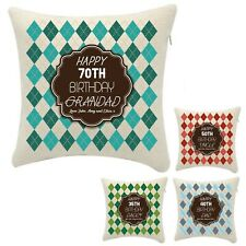 Personalised Birthday 30th 50th 70th Sweater Jumper Pillow Pillowcase Any Age