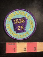 Vtg 25th State Of Arkansas Statehood Patch OPPORTUNITY LAND 1836 95X4