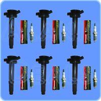 New Motorcraft Spark Plug SP433 Set (6) + ADP Ignition Coil (6) For Fusion,Milan