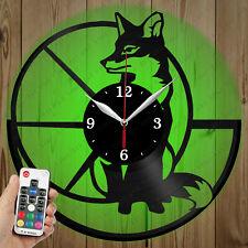 LED Vinyl Clock Fox LED Wall Art Decor Clock Original Gift 5364