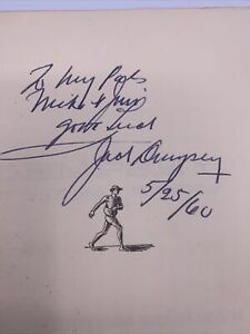 Jack Dempsey AUTOGRAPHED Book! Dempsey By the Man Himself, 1ST EDITION 1960