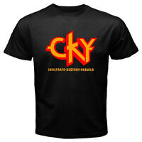 New CKY Camp Kill Yourself Rock Band Infiltrate Destroy Black T-Shirt Size S-3XL