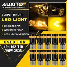 10X Amber Yellow 921 168 194 2825 Interior License Plate Light LED 6000K Bulb EA