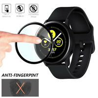 3D Full Cover Soft Fibre Glass Screen Protector For Samsung Galaxy Watch Active