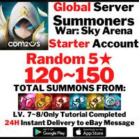 [Global] [Instant] 120-150 Summons NAT 5 Summoners War Starter Account