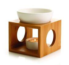 Bamboo Fragrance Tea light Candle Melts White Oil Burner Essential Gift