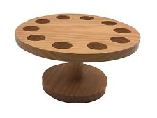 Wooden Cone and Temaki Stand Sushi Hand Roll Display Holder 10 Holes S-4081