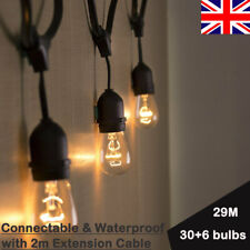 29M Connectable Heavy Duty Outdoor String Lights Wedding Party Ambience Decor UK