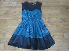 Eva Franco M black green dress 8