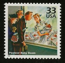 Maternity Ward Saturday Evening Post November 2, 1946 Magazine Cover Stamp MINT!