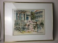 "Josie Van Gent Edell Watercolor Print ""Primavera"" CHARLESTON, S.C. Signed"