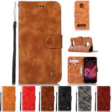 For MOTOROLA MOTO Z2 Force / Z2 Play Leather Wallet Flip Case Cover Stand Pouch