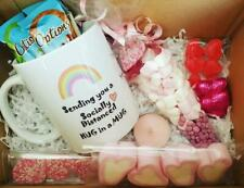 Personalised Social Distance Hug In A Mug Gift Box Isolation Lockdown Rainbow