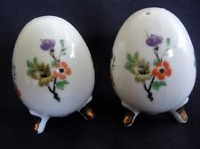 Floral Egg Shaped ENESCO Salt and Pepper Shakers