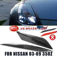 For 03--08 Nissan 350Z Z33 Fairlady Z Coup Headlight Eyelids Eyebrows Cover USA