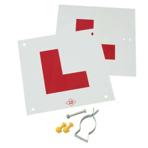 Motorcycle L Plate Kit Complete With Fixings and Bracket / Made in UK
