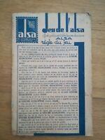 JEU DE L'OIE publicitaire offert par la levure Alsa années 20