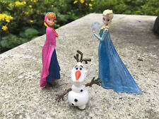 Disney Frozen Princess 3pcs Mini Figures Anna/Elsa/Olaf 3-6cm Bullyland Loose