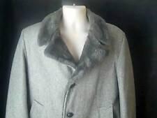 CASUAL CRAFT of New York  Vintage Mens Mobster  Winter Gray Coat 40 Reg