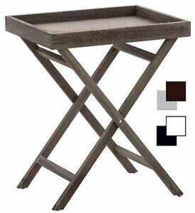 Beistelltisch Simone Klapptisch Holz Serviertablett abnehmbar Tabletttisch