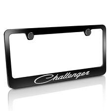 Dodge Challenger Classic Black Metal License Plate Frame, Licensed, Warranted