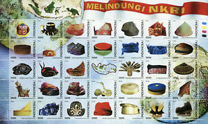 Indonesia 2018 MNH Protect NKRI 35v M/S Maps Geography Hats Cultures Stamps
