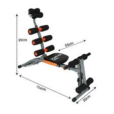 Sit-Up Bench Gym multi 6 in 1 ABS Fit Arms Ropes Dumbbells Training Fitness