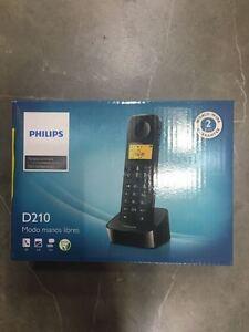 Philips analog phone (wireless) D210 black (D2101B/23) Eu Plug