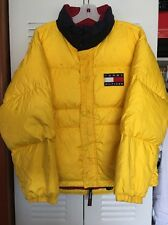 ☆ Vintage Tommy Hilfiger Yellow Puffer Jacket Bubble Coat Winter Youth XL ☆