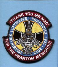 GAF GERMAN LUFTWAFFE 2013 McDONNELL F-4 PHANTOM NON USAF Squadron Jacket Patch