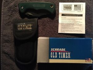 Schrade+ U.S.A. OLD TIMER , 470T Hunting + Sheave Knife + Box