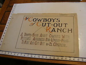Art from 1915 the Cowboys of Cut-out Ranch by W S Phillips: title page CHANGED