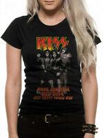 Kiss Rock n Roll All Nite T Shirt Official Ladies Skinny Fit NEW S M L XL