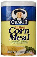 Quaker Yellow Corn Meal 680g 24OZ tub (BEST BEFORE DATE 18 JUNE 2018)