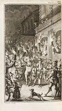 CERVANTES | Nouvelles exemplaires | 1759 | 14 gravures | Plein Maroquin citron