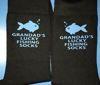 Personalised with ANY NAME........ LUCKY FISHING SOCKS  CHRISTMAS/BIRTHDAY GIFT