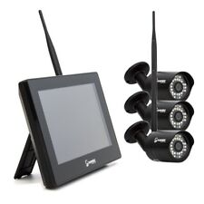HD Funk Videoüberwachungsanlage 3x Kamera Fuß Monitor 1TB HDD Haus Überwachung