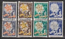 Roltanding nr 98-101 used pairs paren NVPH Nederland Netherlands syncopated