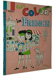 Let's Color in French Children's Coloring Book Edgar Melville Poodle Cover Illus