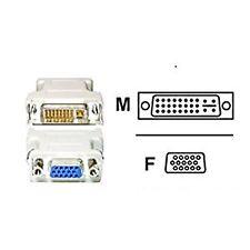 DVI-I Male to VGA SVGA HD 15 Pin Female Video Monitor LCD Converter Adapter New