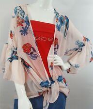 NWT Rue21 Flower Printed Kimono SIZE M gorgeous print, modern!!