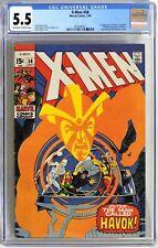 S112. X-MEN #58 by Marvel Comics CGC 5.5 FN- (1969) 1st App. of HAVOK in Costume